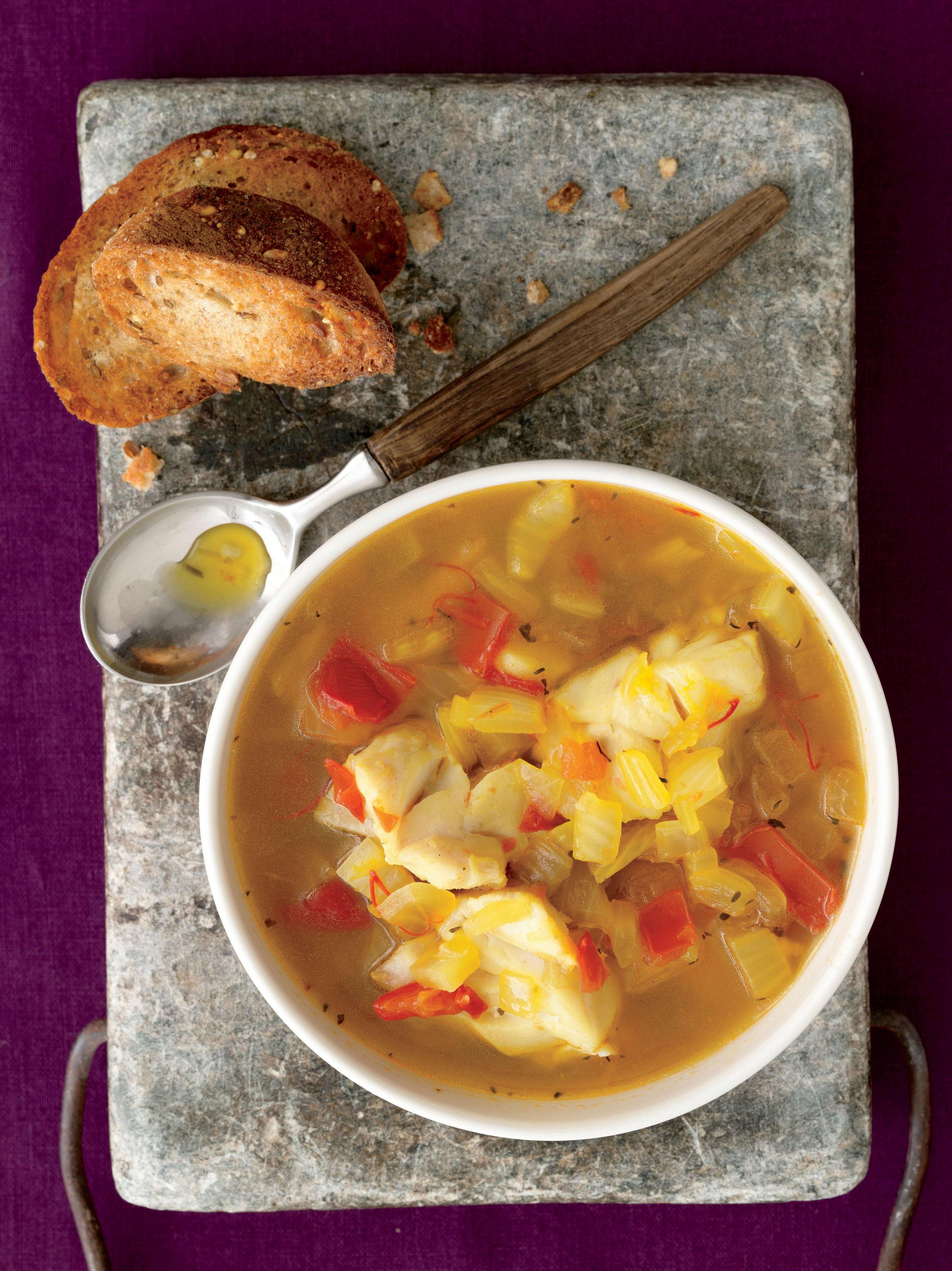 Foto de Sopa de Peixe Aromatizada com Açafrão por WW