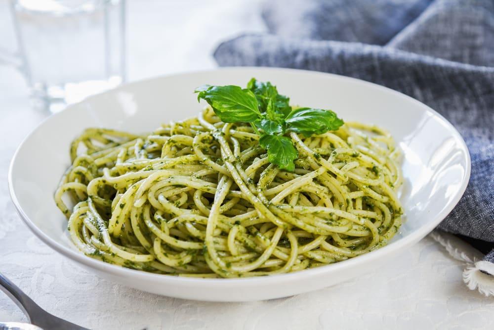 Foto de Espaguete com Pesto Cremoso de Espinafre por WW