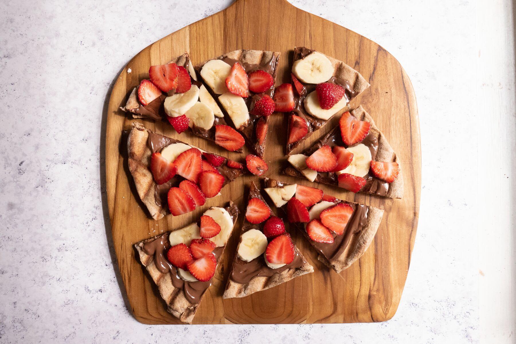Foto de Pizza com creme de avelã e frutas por WW