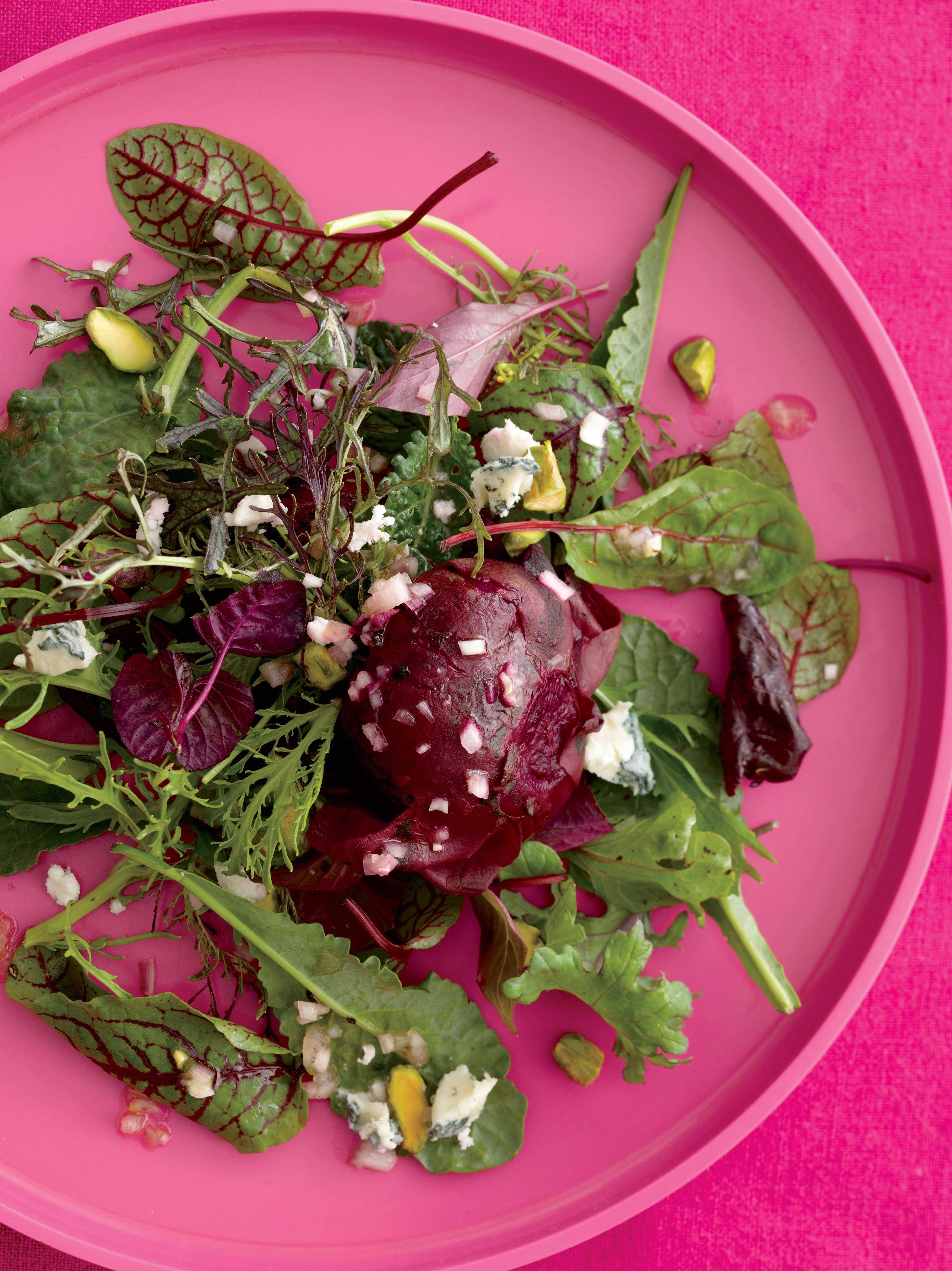 Foto de Salada de Beterraba Tostada com Pistache e Gorgonzola por WW