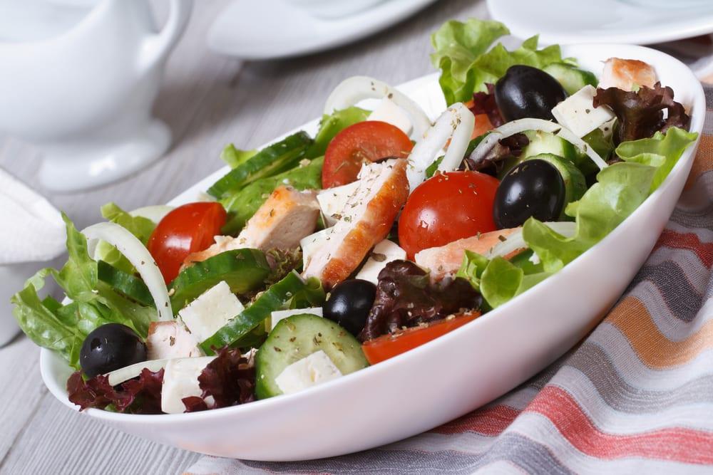 Foto de Salada Grega com Frango por WW