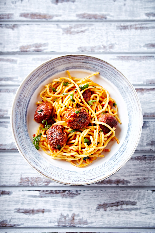 Foto de Espaguete com almôndegas ao sugo por WW