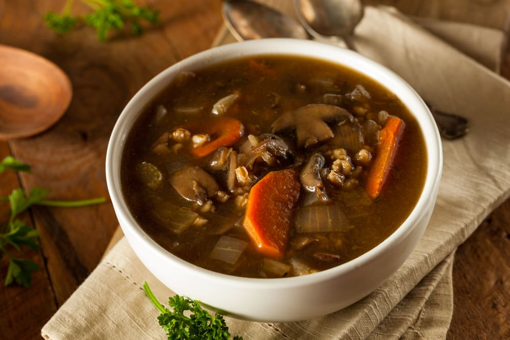 Foto de Sopa de cevadinha e cogumelo por WW