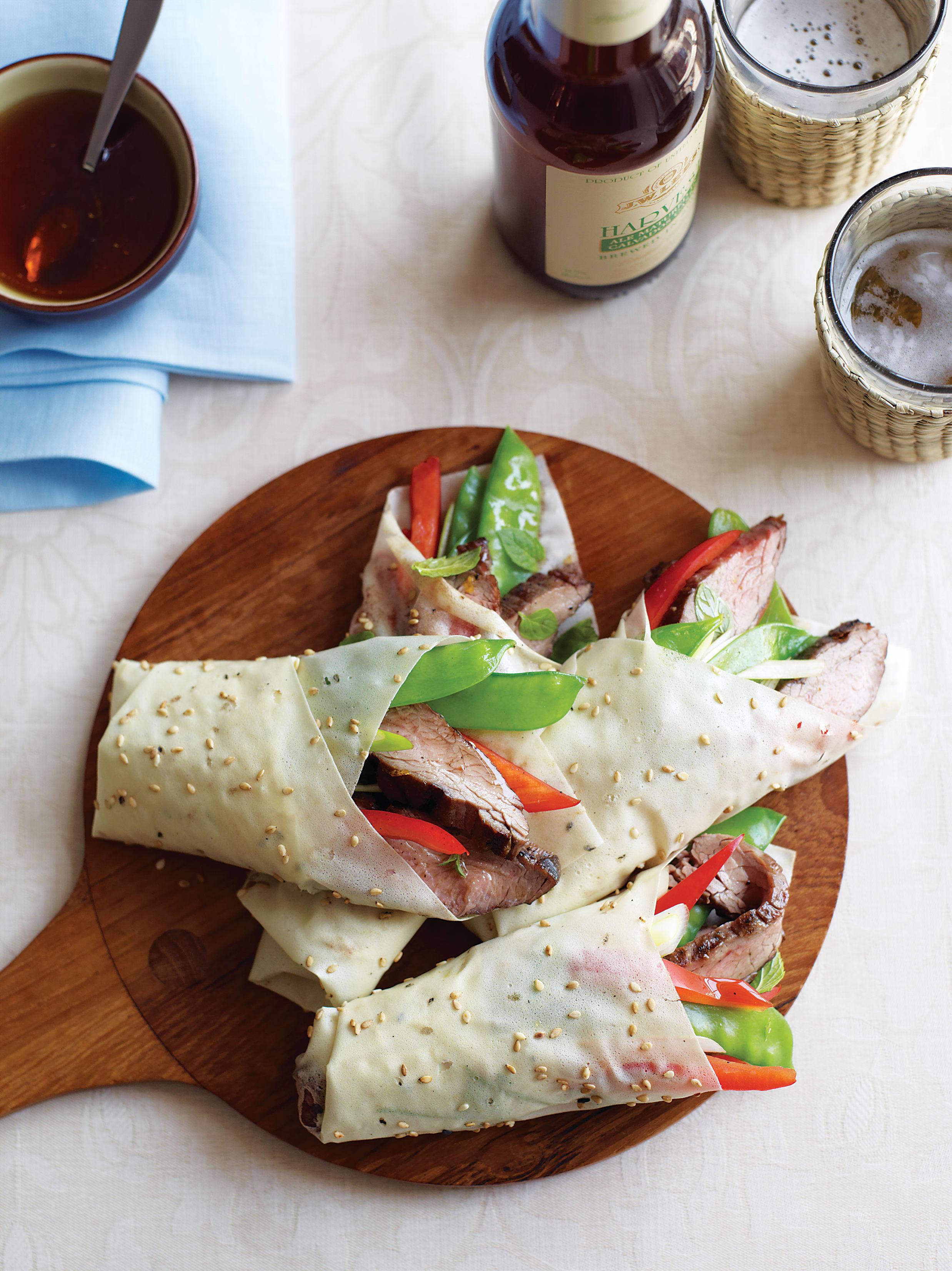 Foto de Wrap de Carne com Hortaliças e Molho Mirin por WW