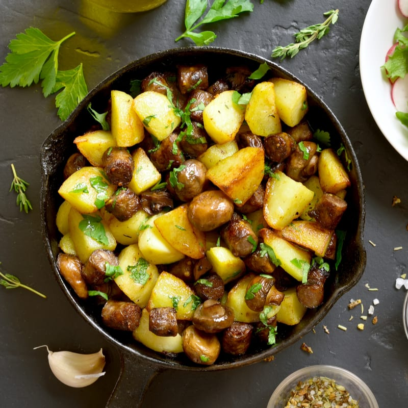 Foto de Batatas & cogumelos salteados por WW