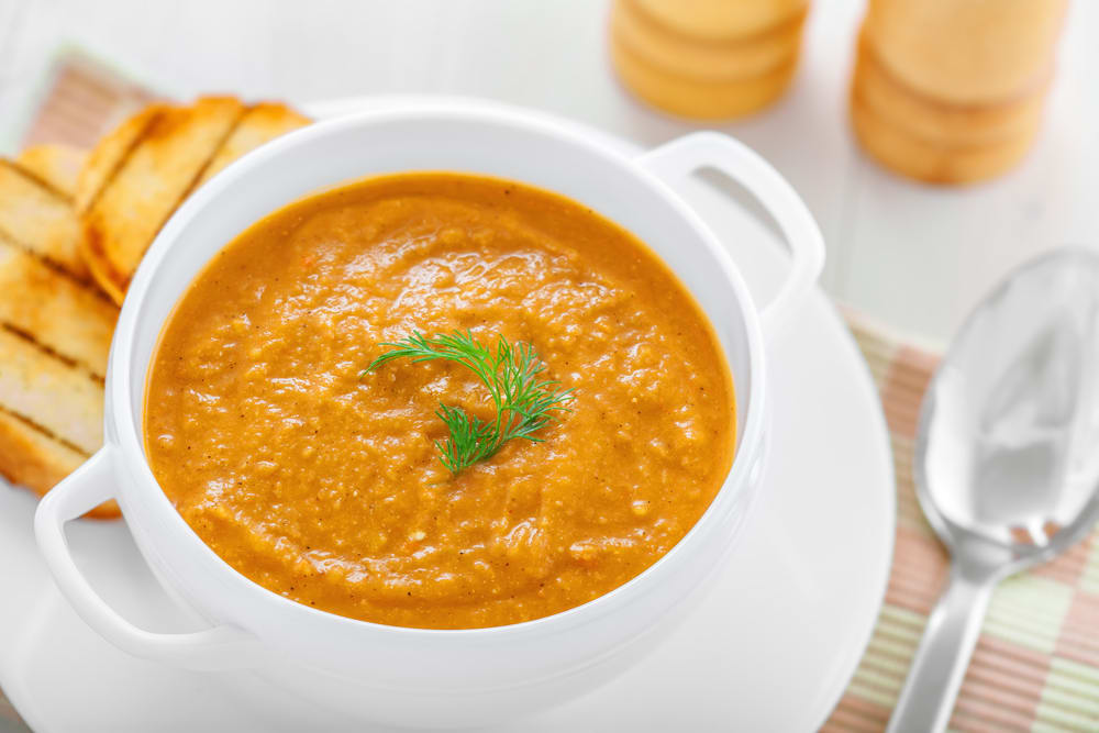 Foto de Sopa de abóbora ao curry e leite de coco por WW