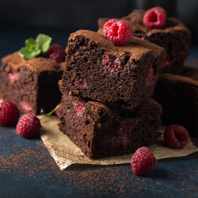 Foto de Brownie de chocolate com frutas vermelhas por WW