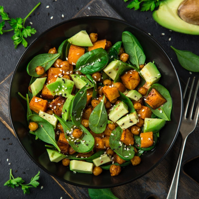 Foto de Salada de grão-de-bico, abóbora e espinafre por WW