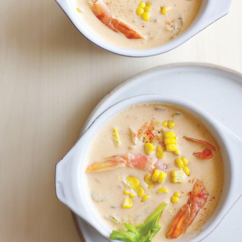 Foto de Sopa cremosa de milho e camarão por WW