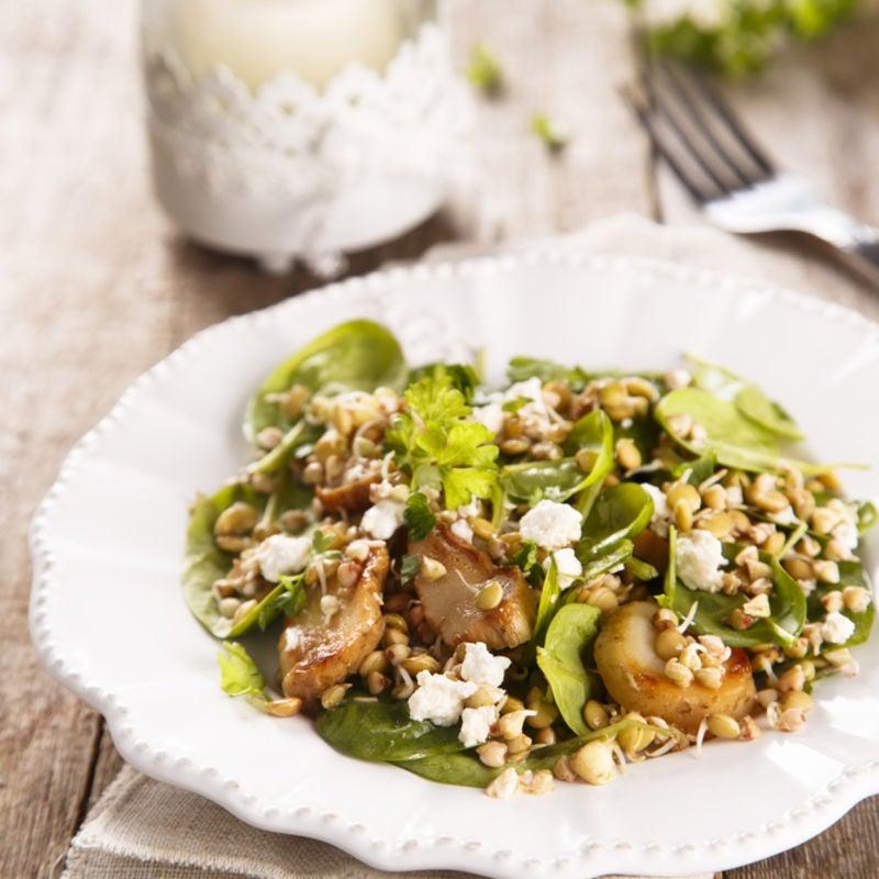 Foto de Salada de Lentilha, Espinafre e Cogumelos por WW