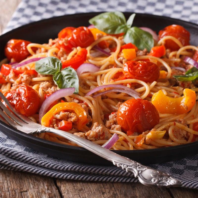 Foto de Espaguete com Ricota e Ragu de Legumes por WW