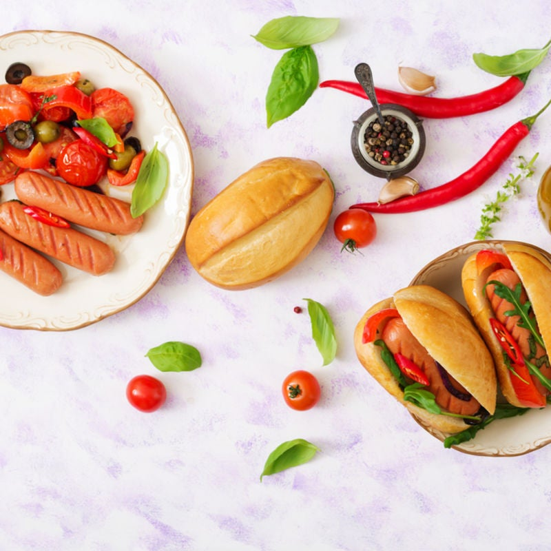 Foto de Cachorro-quente com legumes assados por WW