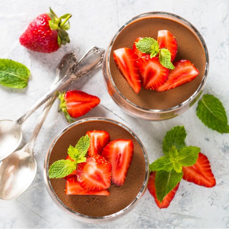 Foto de Mousse de chocolate com morangos por WW