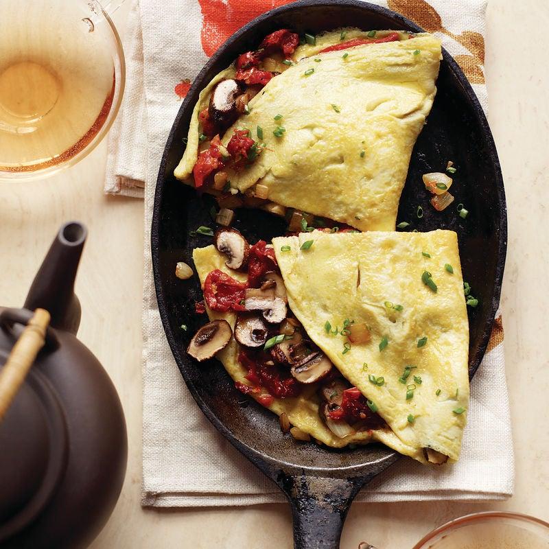 Foto de Omelete de Tomate Seco e Cogumelo por WW