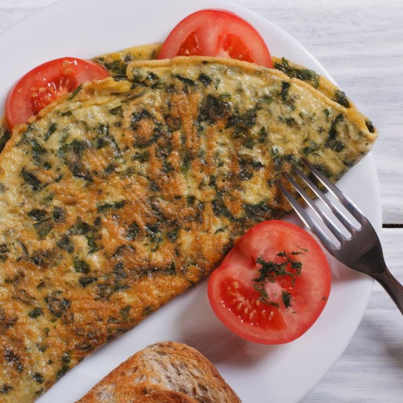 Foto de Omelete de Espinafre e Tomate por WW