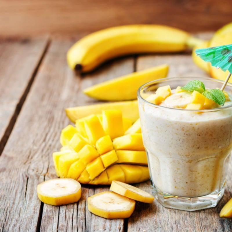 Foto de Smoothie tropical de banana e manga por WW